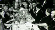 FORMAL WEAR DINNER PARTY High Society People 1940s Vintage Film Home Movie 1352 Stock Footage