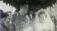 Stock Video Footage of Jewish Wedding Bride Groom Rice Shower WW2 1940s Vintage Film Home Movie 1358