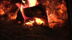 Pizza Oven, Flames. Stock Footage