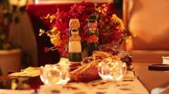 Thanksgiving dolls Stock Footage