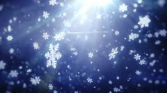Falling snowflakes background. Loopable Stock Footage