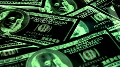 Greenbacks Stock Footage