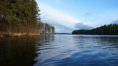 Lake in Finland Stock Footage
