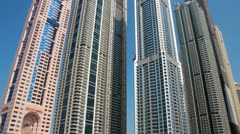 Skyscrapers in Dubai, United arab emirates Stock Footage