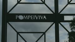 Sign in Pompeii Stock Footage