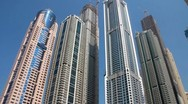 Stock Video Footage of Skyscrapers in Dubai, United arab emirates