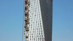 Infinity tower construction phase. Dubai Marina. United arab emirates Stock Footage