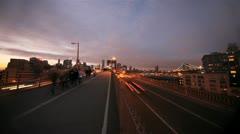NYC Timelapse - brooklyn bridge night 04 Stock Footage