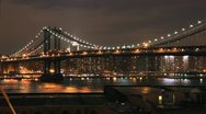 Stock Video Footage of NYC Timelapse - manhatten bridge night 06