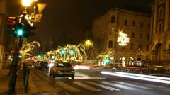 European City At Night Timelapse 25 Stock Footage