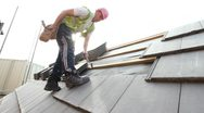 Stock Video Footage of Construction. Roofer