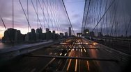 Stock Video Footage of NYC Timelapse - brooklyn bridge night 03