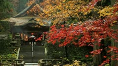Autumn temple. Stock Footage