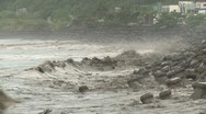 Tropical Storm Muddy Storm Surge Waves Stock Footage