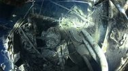 Stock Video Footage of 110612i 009 shipwreck in shallow water and coral reef