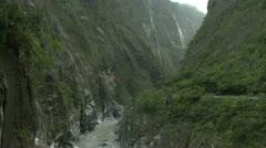 Taroko Gorge After Tropical Storm Stock Footage