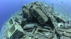Wreckage from a Shipwreck (Yolanda) - stock footage