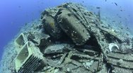 Stock Video Footage of 110612g 006 wreckage from a shipwreck
