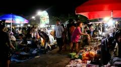 Night Market in Bangkok, Thailand Stock Footage