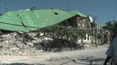 Collapsed buildings following the Haiti earthquake. Stock Footage