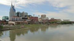 Nashville Skyline Timelapse - stock footage