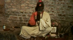 Nepal Kathmandu Buddhist Praying Guru - Vintage Super8 Film Stock Footage