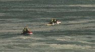 Jet ski surf assist waiting Stock Footage