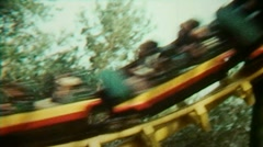 Fairground Amusement Park Roller Coaster Ride - Vintage Super8 Film - stock footage