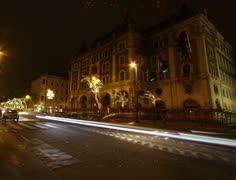 4K European City Budapest Hungary At Night Timelapse 08 Stock Footage