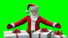 Santa represents gifts - stock footage