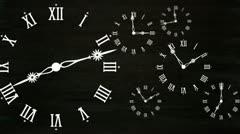Clocks - stock footage