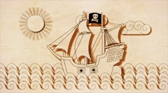 Pirate Ship Stock Footage