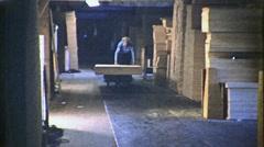 Working Class Man Warehouse Job USA 1950s Vintage Industrial Film Movie 1412 Stock Footage