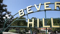 Beverly Hills sign in Los Angeles Stock Footage