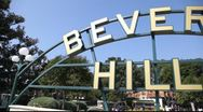 Stock Video Footage of Beverly Hills sign in Los Angeles