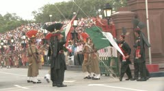 Wagha Border Closing Ceremony Stock Footage