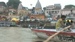 River Ganges, Varanasi - stock footage