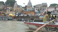 Stock Video Footage of River Ganges, Varanasi
