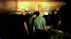Men Loading Refrigerator Boxcar Circa 1942 (Vintage Film Archival Footage) 1430 - stock footage
