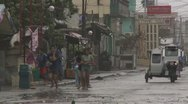 Stock Video Footage of Hurricane Winds Tear Through Town In Philippines