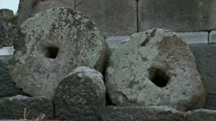 Pompeii ancient stone Stock Footage