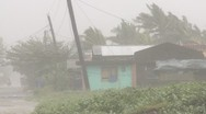 Stock Video Footage of Hurricane EyewalI Lashes Town In Philippines