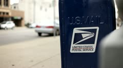 US mail box in downtown dayton ohio Stock Footage