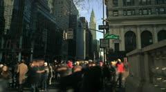 NYC Timelapse - manhattan canyon 06 Chrysler building - stock footage