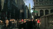 Stock Video Footage of NYC Timelapse - manhattan canyon 06 Chrysler building