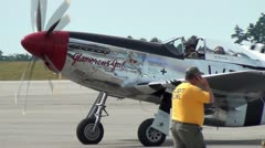 P 51 Mustang - stock footage