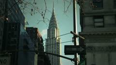 NYC Timelapse - manhattan canyon 07 Chrysler building Stock Footage