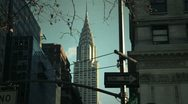 Stock Video Footage of NYC Timelapse - manhattan canyon 07 Chrysler building