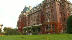 Empress hotel wide shot Stock Footage