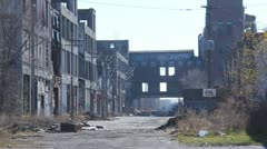 Stock Video Footage of Detroit Factory Ruins 3
